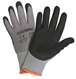 West Chester 715SNFTP-2X Microfoam Nitrile Palm Dip Gloves- Black/Gray